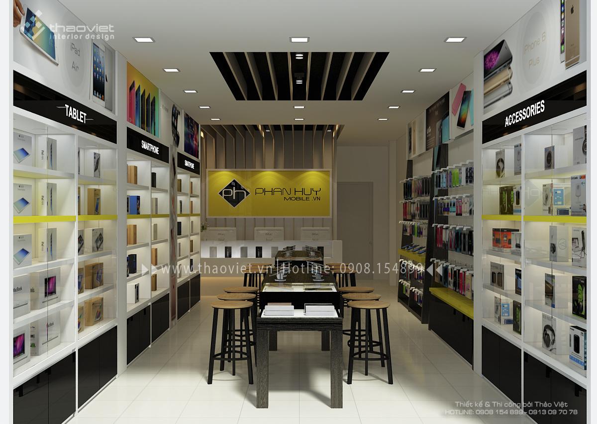 thiết kế shop điện thoại Phan Huy 2