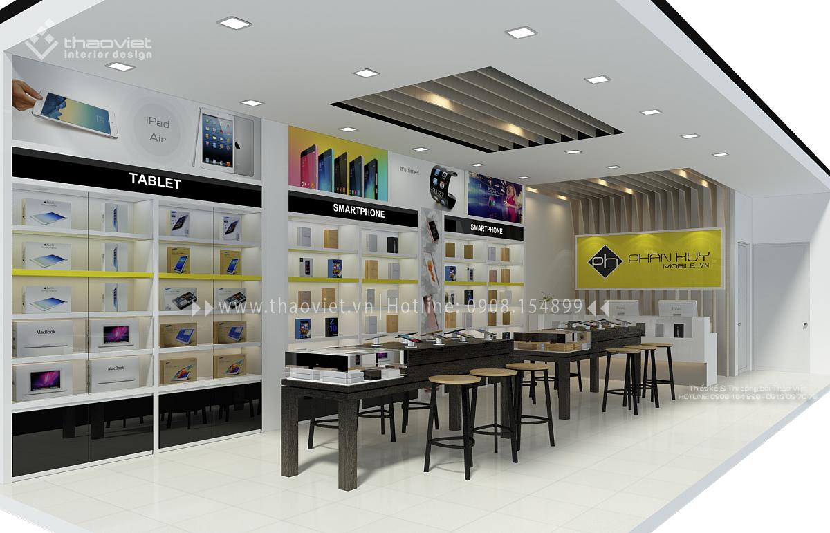 thiết kế shop điện thoại Phan Huy 3