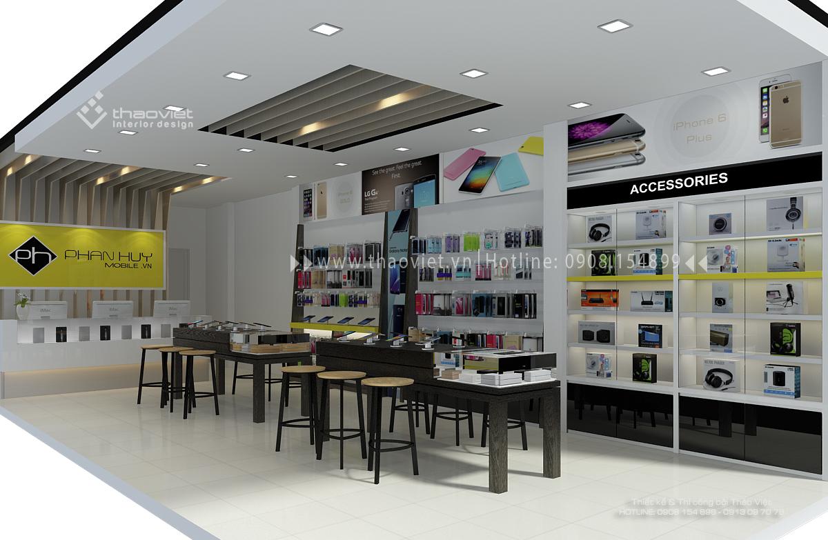 thiết kế shop điện thoại Phan Huy 4