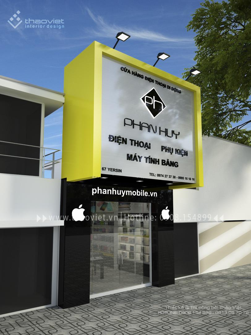 thiết kế shop điện thoại Phan Huy