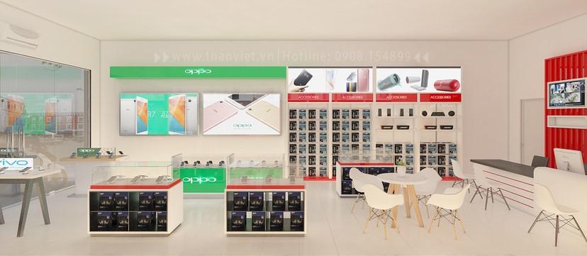 thiết kế nội thất shop điện thoại đẹp 7