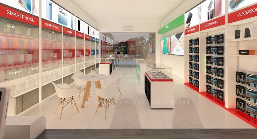 thiết kế nội thất shop điện thoại đẹp 9