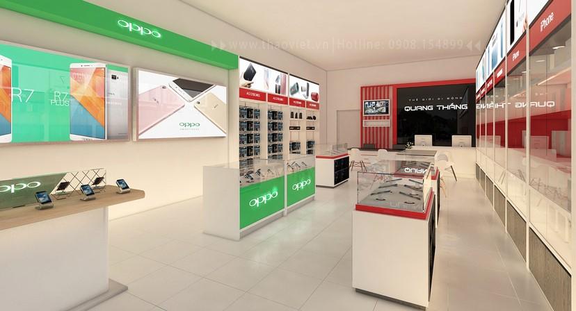 thiết kế nội thất shop điện thoại đẹp 3