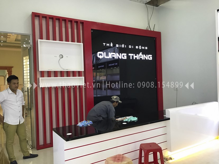 thi cong shop Quang Thắng