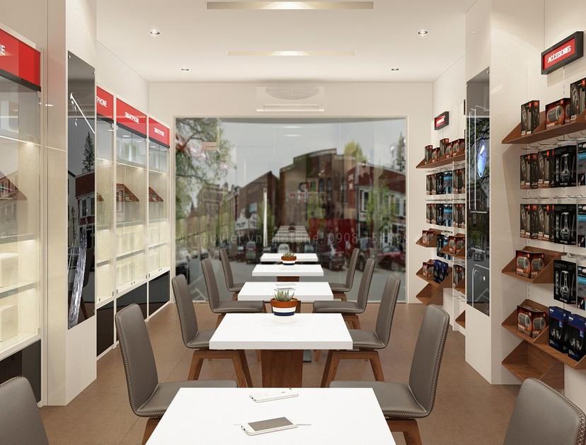 Thiết kế nội thất shop điện thoại Di Động Việt 10