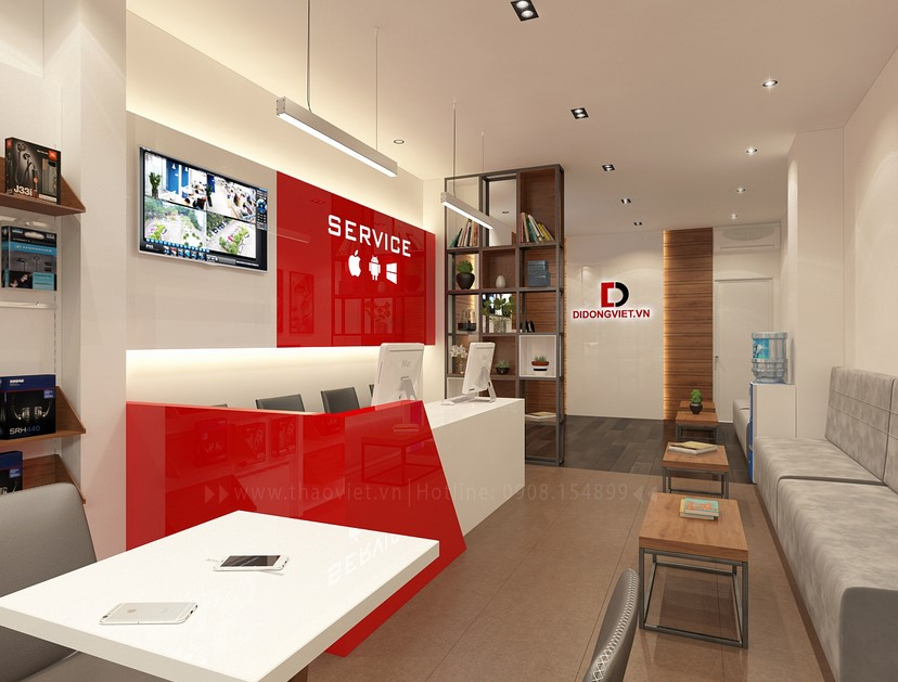 Thiết kế nội thất shop điện thoại Di Động Việt 5