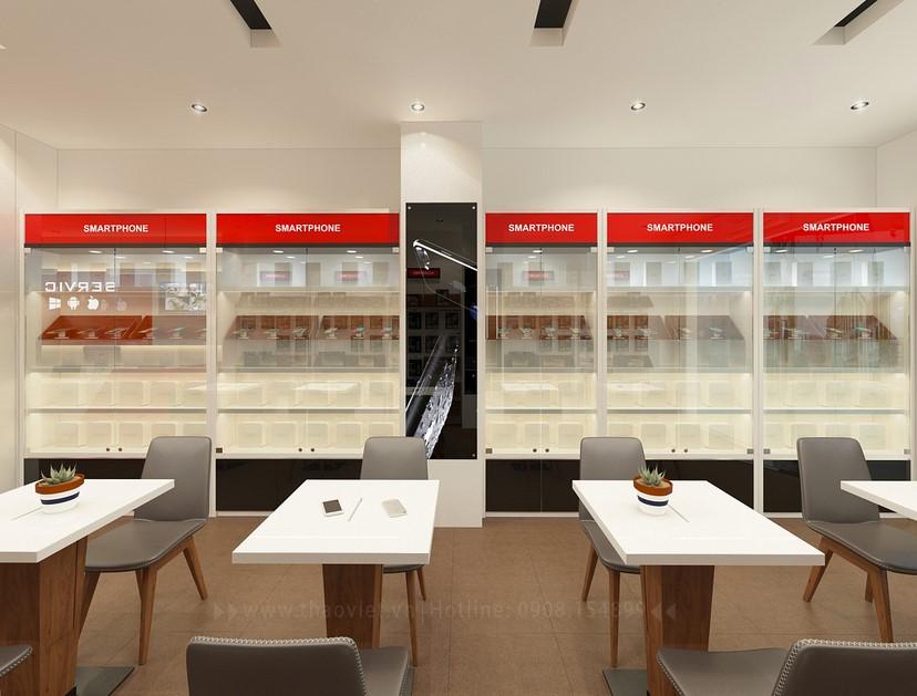 Thiết kế nội thất shop điện thoại Di Động Việt