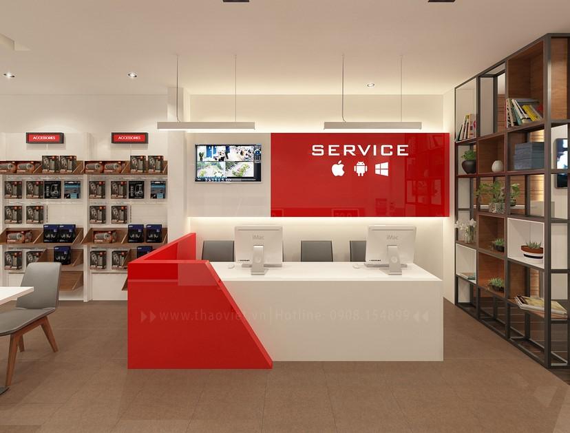 Thiết kế nội thất shop điện thoại Di Động Việt 6