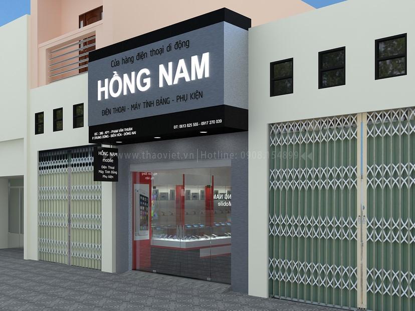 Thiết kế nội thất shop Hồng Nam 1