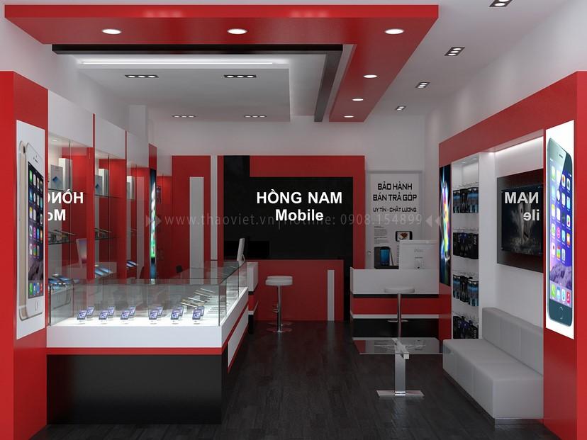 Thiết kế nội thất shop Hồng Nam 2