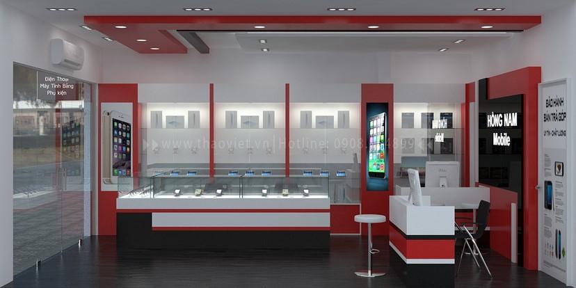 Thiết kế nội thất shop Hồng Nam 6