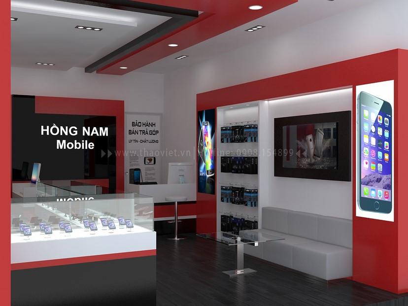 Thiết kế nội thất shop Hồng Nam 3