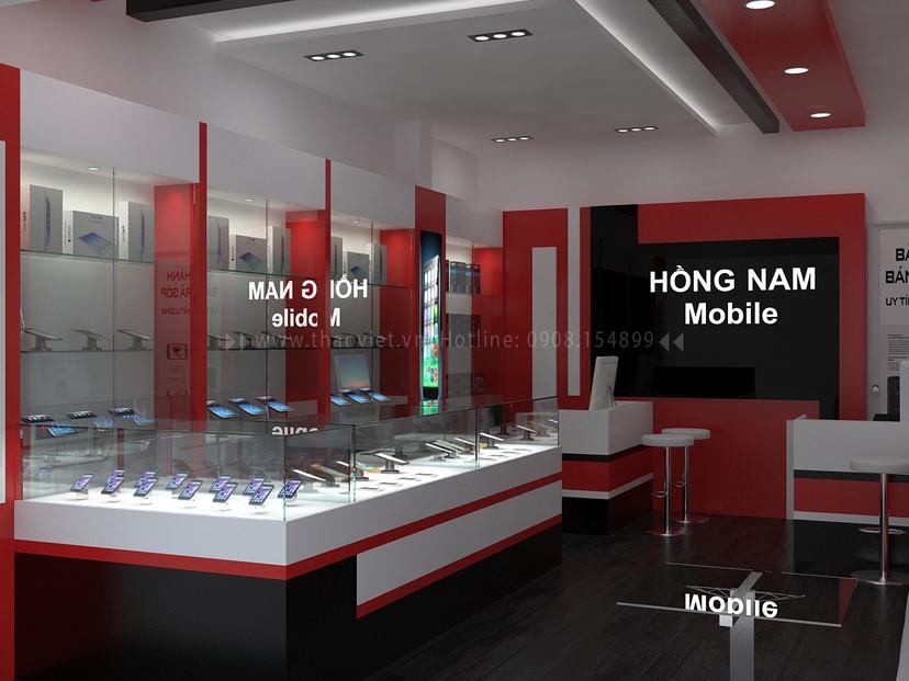 Thiết kế nội thất shop Hồng Nam 4