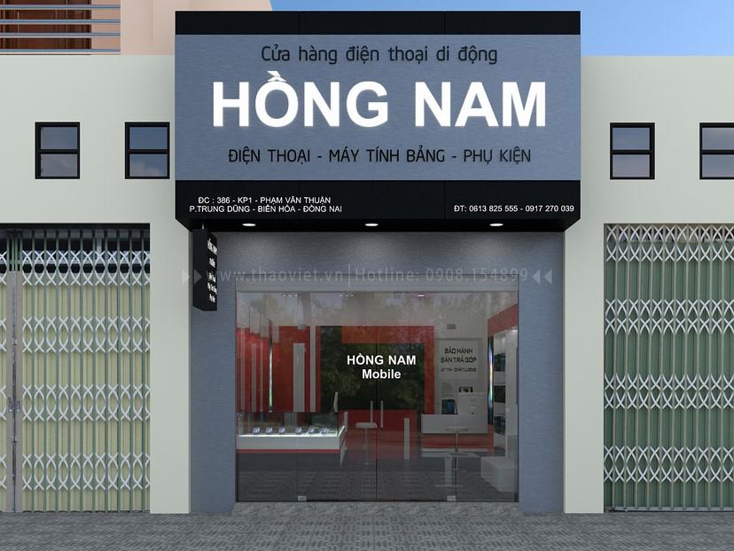 Thiết kế nội thất shop Hồng Nam