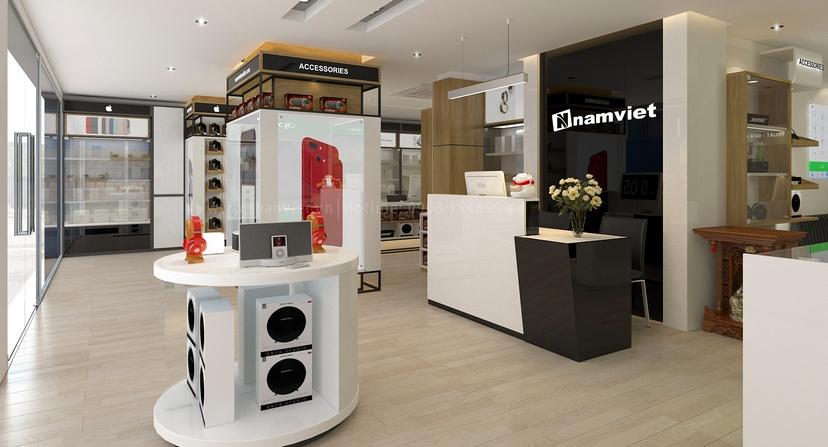 thiết kế nội thất shop Nam Việt 1