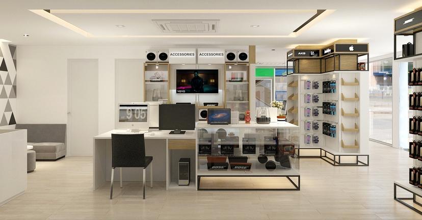thiết kế nội thất shop Nam Việt 10
