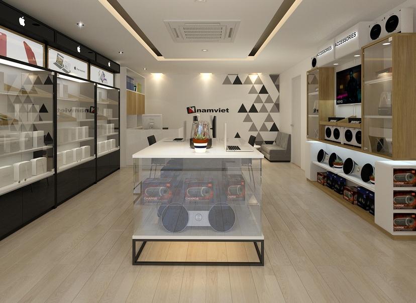 thiết kế nội thất shop Nam Việt 6