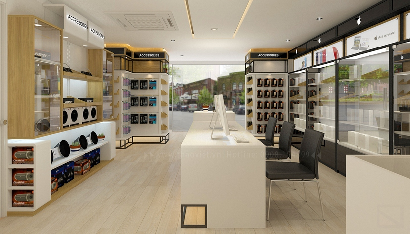 thiết kế nội thất shop Nam Việt 7