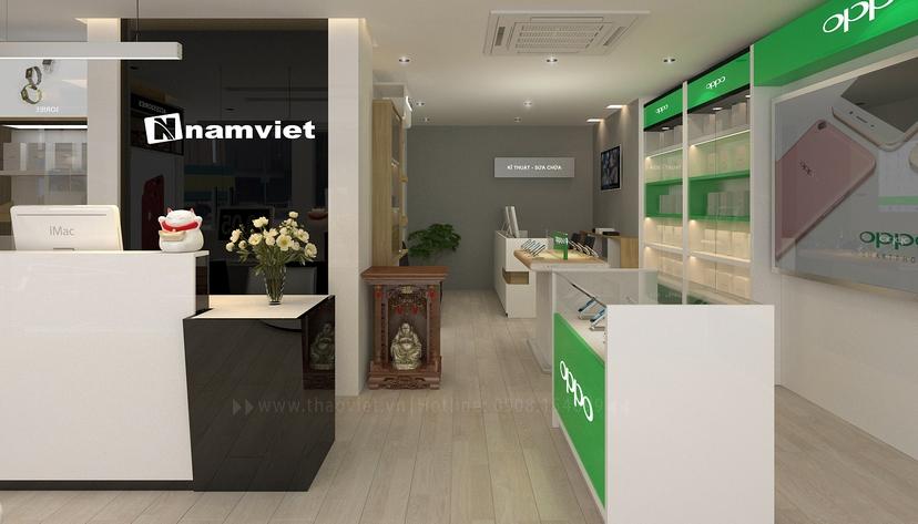 thiết kế nội thất shop Nam Việt 3