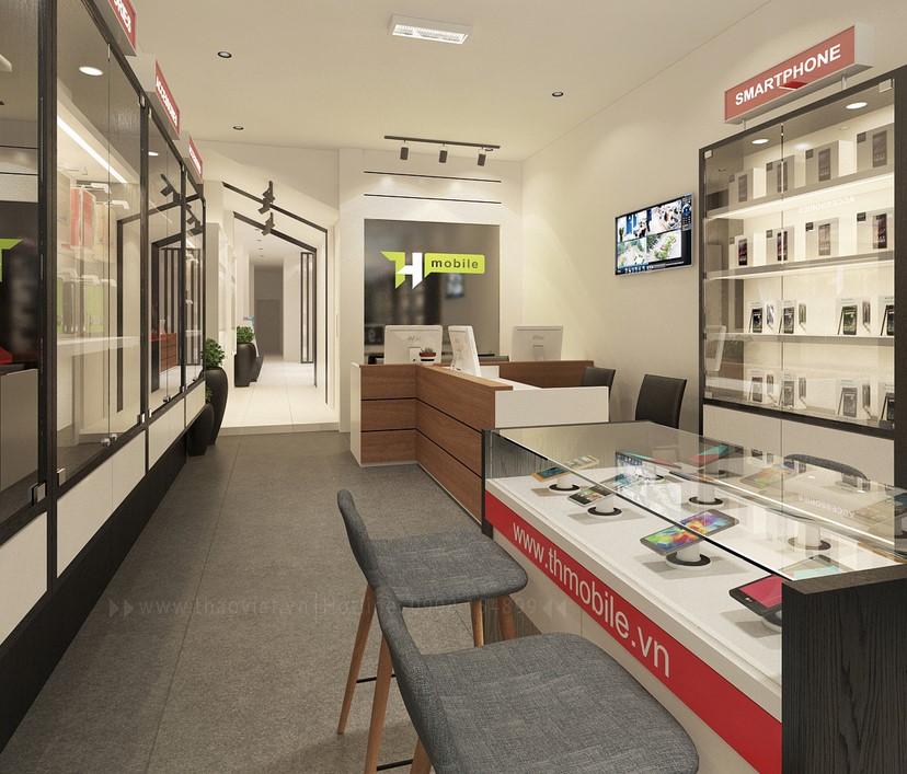 thiết kế nội thất shop điện thoại T&H 1