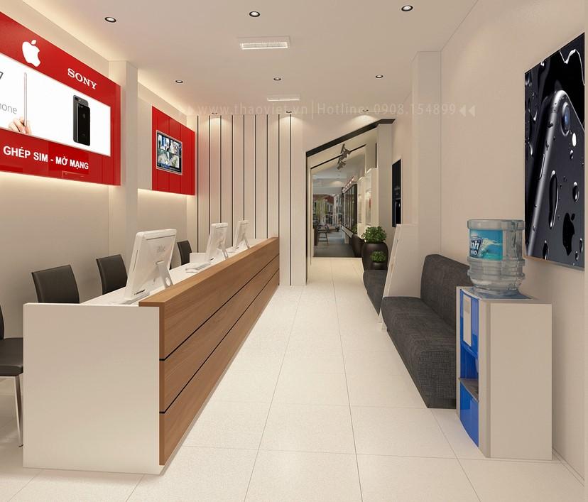 thiết kế nội thất shop điện thoại T&H 4
