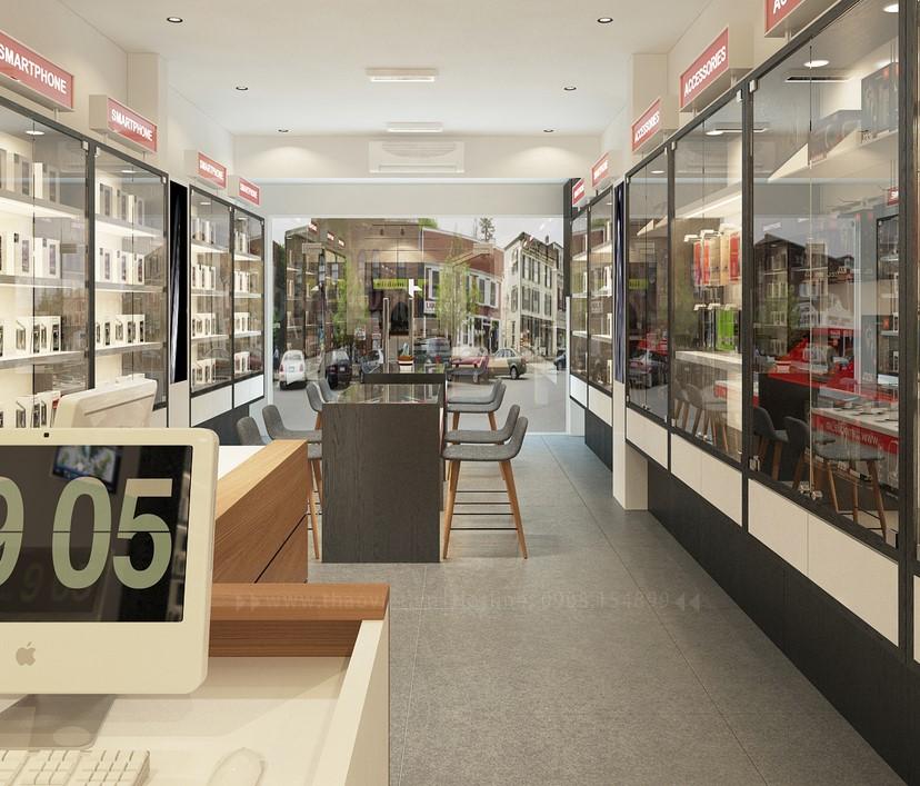 thiết kế nội thất shop điện thoại T&H 13