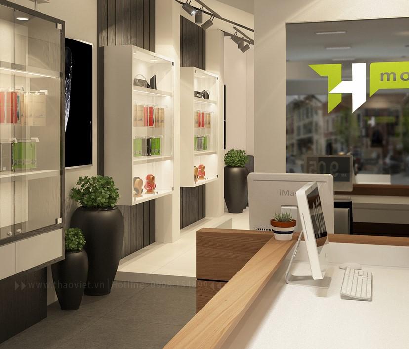 thiết kế nội thất shop điện thoại T&H 3