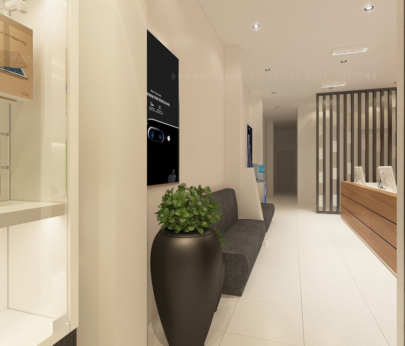 thiết kế nội thất shop điện thoại T&H 12