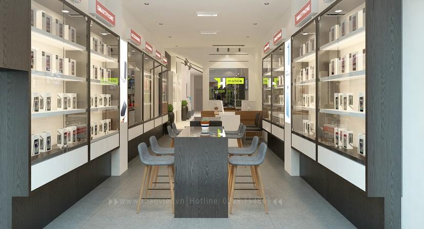 thiết kế nội thất shop điện thoại T&H