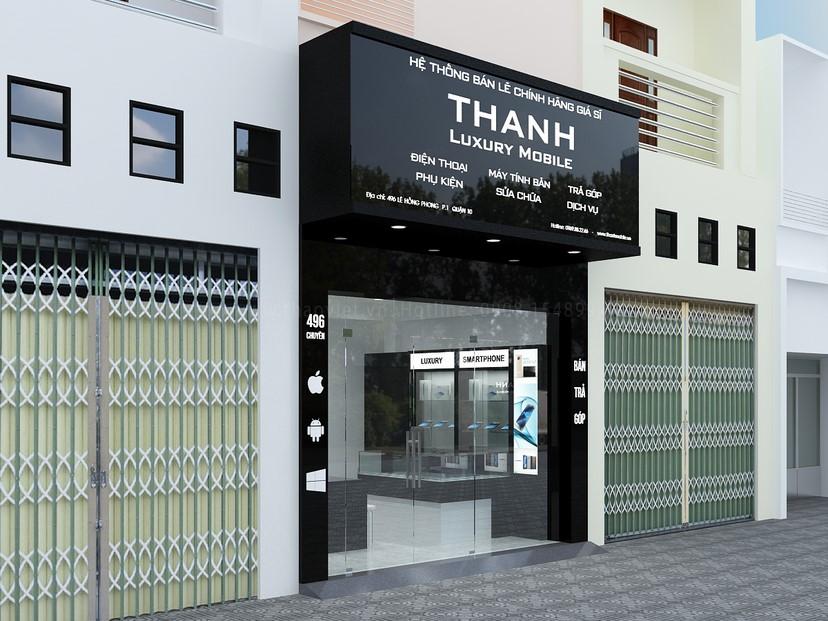 Thiết kế nội thất shop Thanh Luxury 1