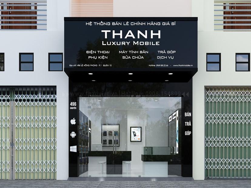 Thiết kế nội thất shop Thanh Luxury