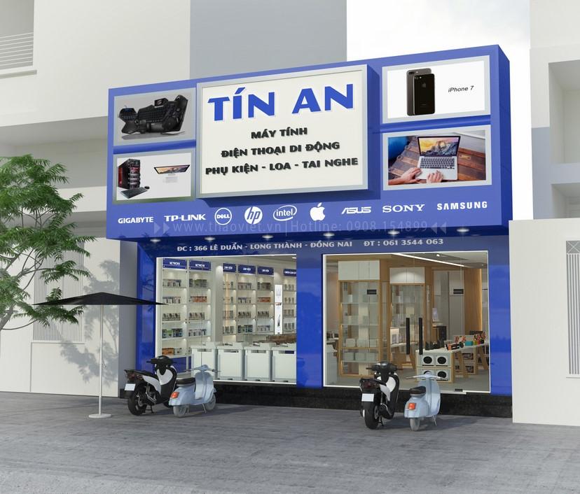 Thiết kế nội thất shop Tín An