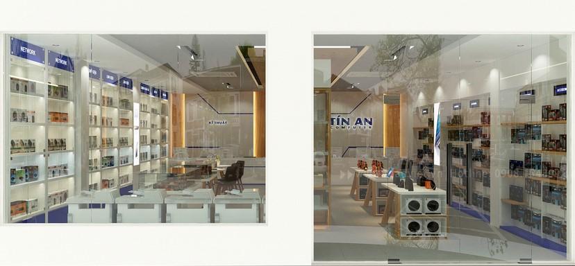 Thiết kế nội thất shop Tín An 14