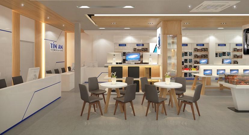 Thiết kế nội thất shop Tín An 11