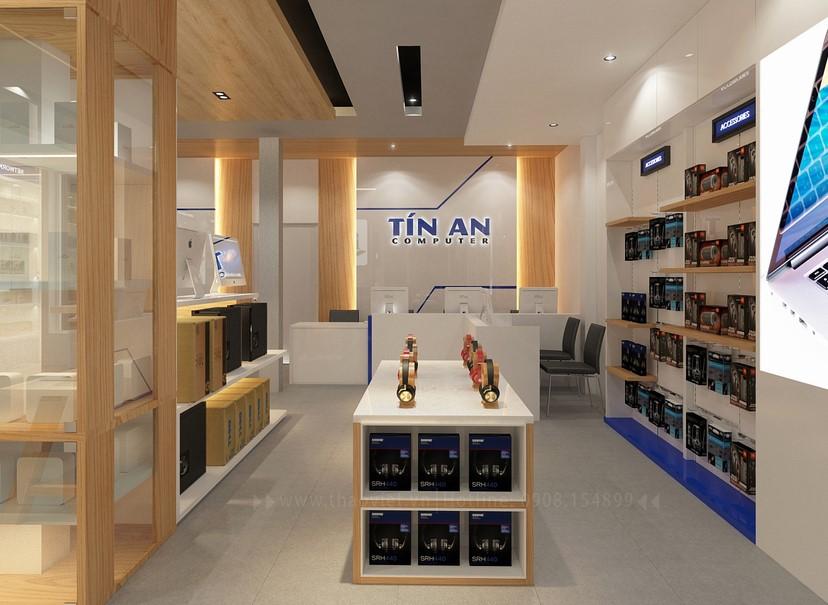 Thiết kế nội thất shop Tín An 4
