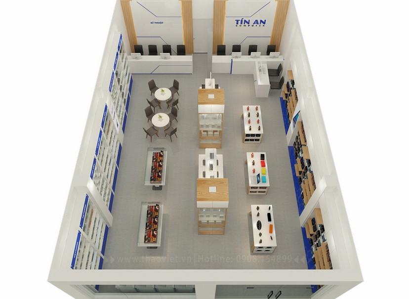 Thiết kế nội thất shop Tín An 3
