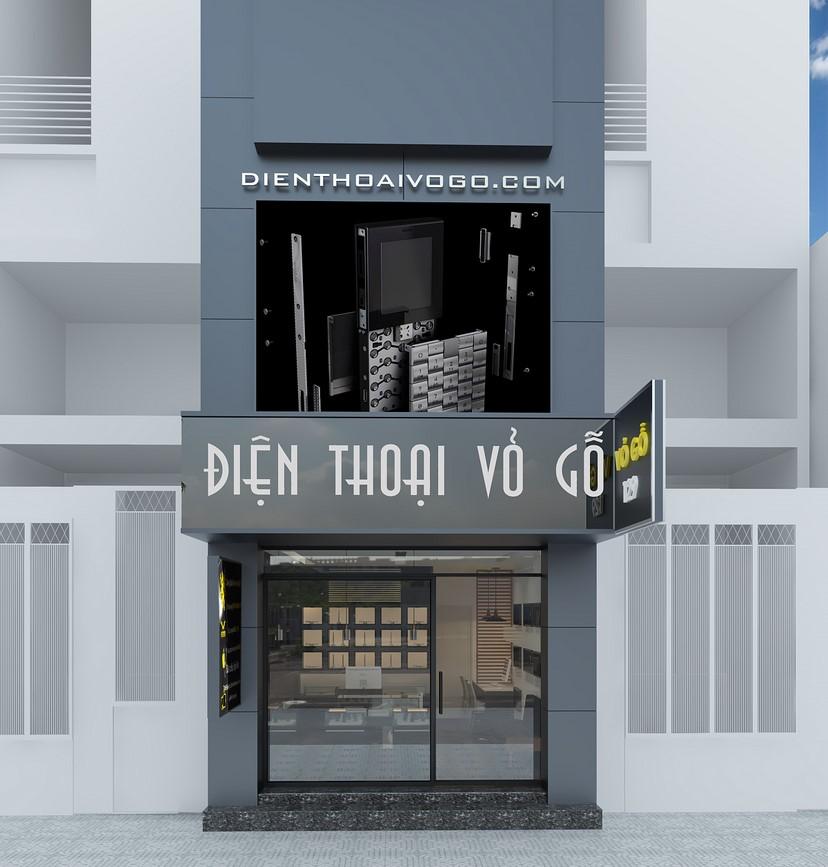 Thiết kế nội thất shop điện thoại Vỏ Gỗ