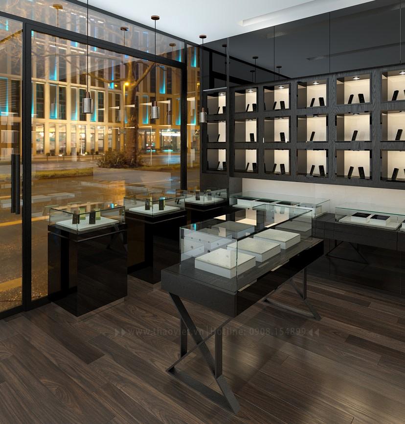 Thiết kế nội thất shop điện thoại Vỏ Gỗ 7