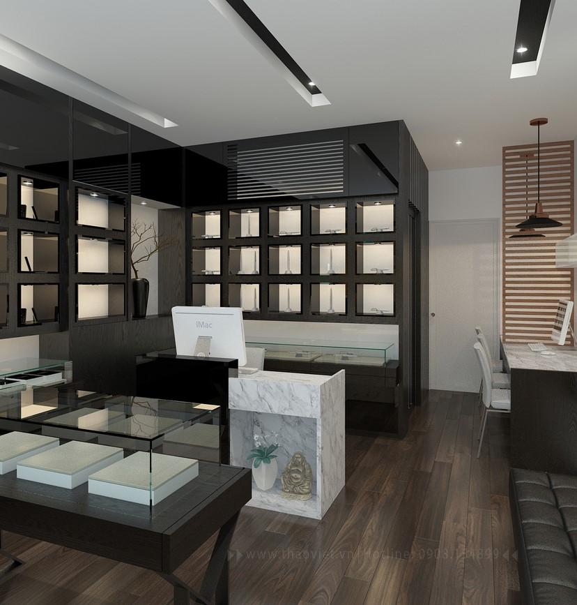 Thiết kế nội thất shop điện thoại Vỏ Gỗ 4