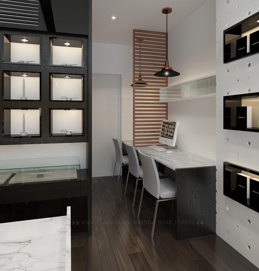 Thiết kế nội thất shop điện thoại Vỏ Gỗ 5