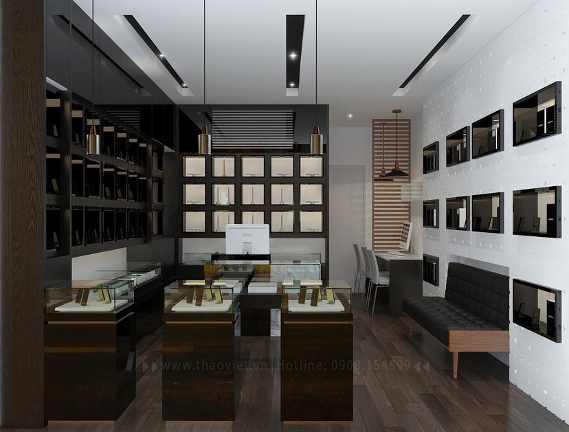 Thiết kế nội thất shop điện thoại Vỏ Gỗ 2