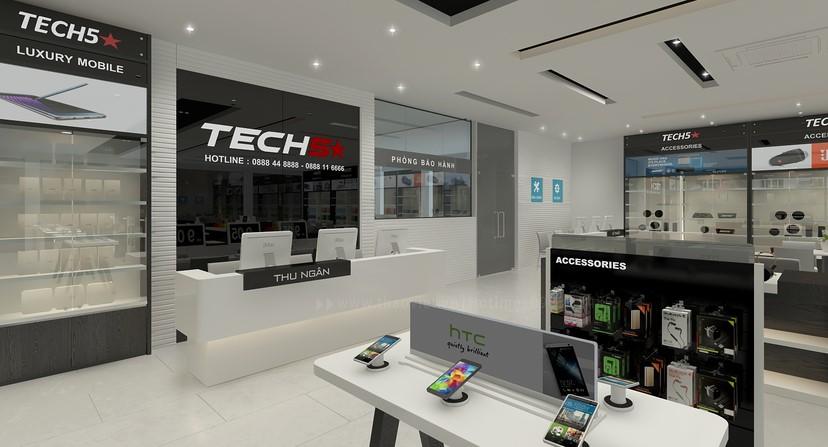 Thiết kế nội thất shop điện thoại 5
