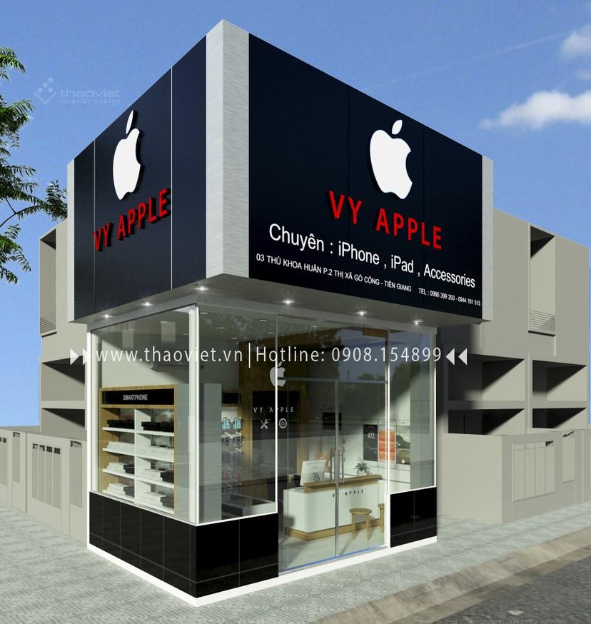 thiết kế shop điện thoại Vy Apple - Tiền Giang