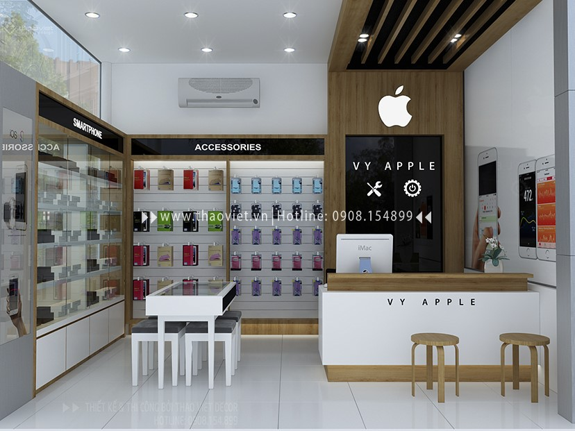 thiết kế shop điện thoại Vy Apple - Tiền Giang 1