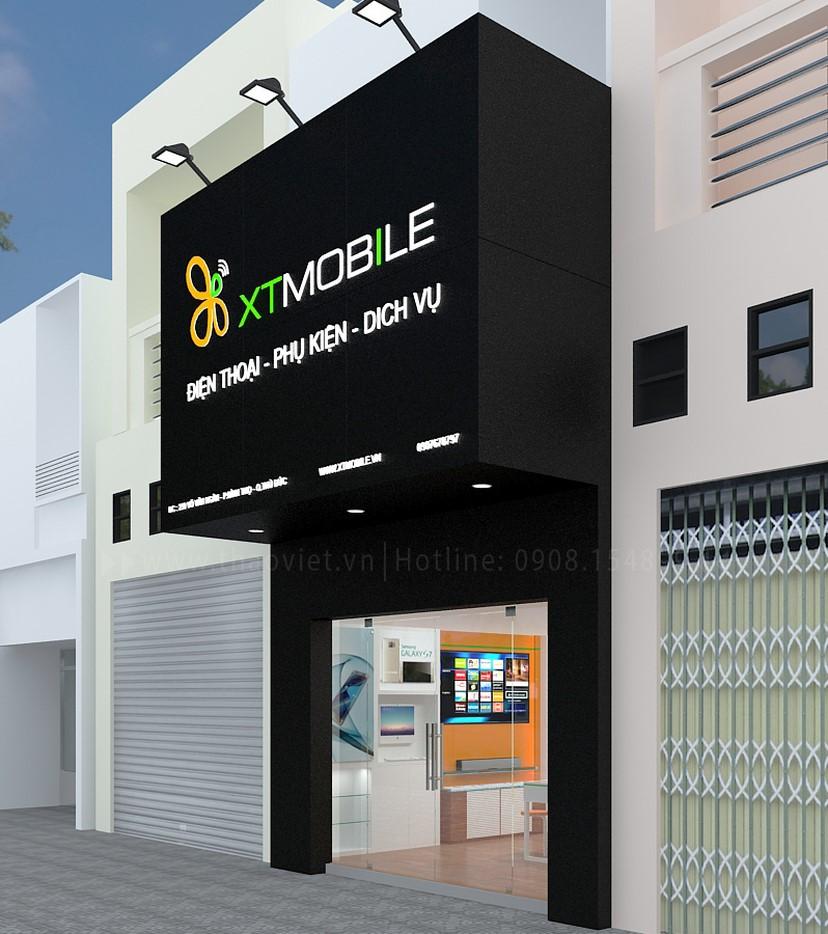 Thiết kế nội thất shop điện thoại 1