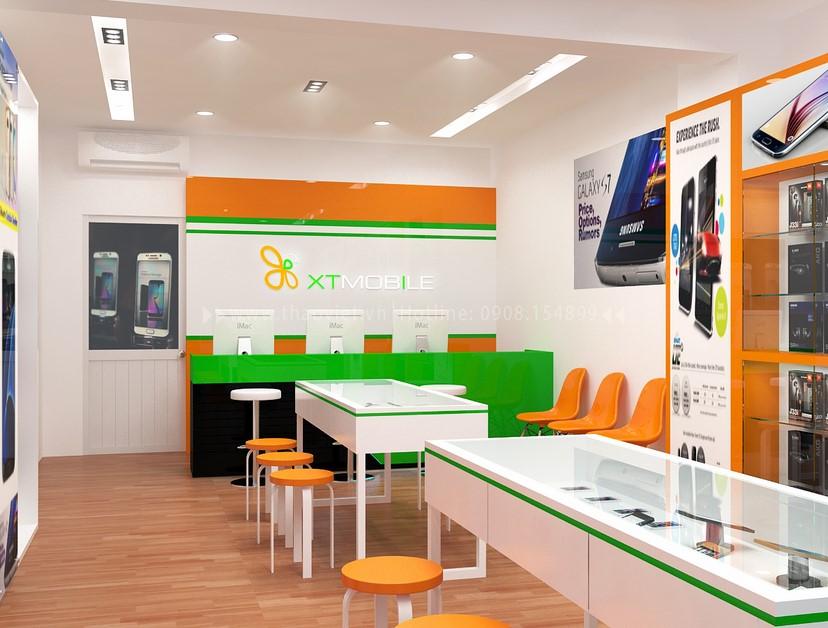 Thiết kế nội thất shop điện thoại 3