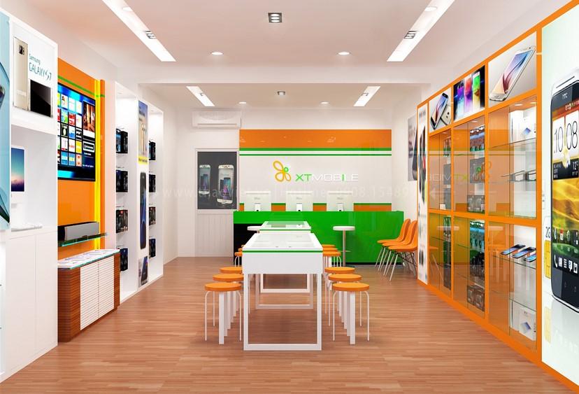 Thiết kế nội thất shop điện thoại 2